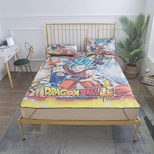 Q-DDOIT Anime Dragon Ball Z Goku Kühldecke Kühle Sommer Schlafmatte Ice Silk Cartoon Matratze Weichen Sommer Verwenden Pad,1.5m
