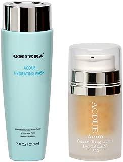 Omiera Acdue Acne Scar Removal Cream, Severe Acne Spot Treatment, Acne Dark Spot Corrector and Acne Dark Spot Face Wash, Acne Pore Cleanser, Acne Scar Wash Kit