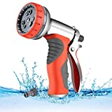 Image of LUFENG 2019 UPGRADED Hose Spray Gun 9 Adjustable Patterns Hose Nozzle Heavy Duty Metal High Pressure Hose Gun, Perfect for Garden, Watering Lawn, Car Washing, Cleaning, Pets Wash