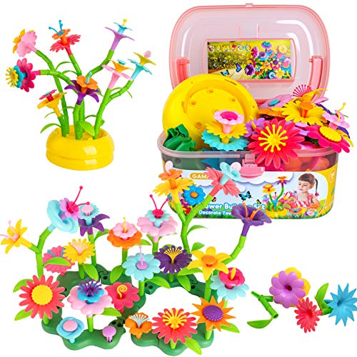 GAMZOO Flower Garden Building Toys for Girls 3-6 Year Old - Best Birthday Gift for Preschool Toddlers (150pcs)