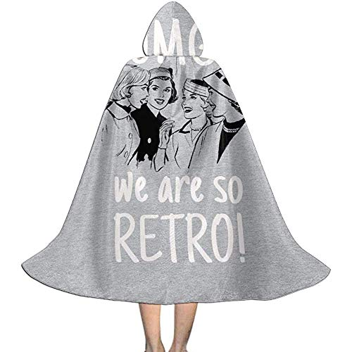 Niet van toepassing volwassen gewaad mantel, Unisex Cosplay rol kostuums, capuchon mantel Cape, Omg we zijn zo Retro Retro Comic Vrouwen Vampier Mantel, Halloween Party Decoratie Outwear,Witch Wizard Mantel
