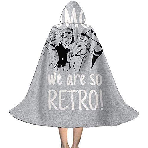 Niet van toepassing volwassen gewaad mantel, Unisex Cosplay rol kostuums, capuchon mantel Cape, Omg we zijn zo Retro Retro Comic Vrouwen Vampier Mantel, Halloween Party Decoratie Outwear,Witch Wizard Mantel