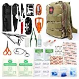 LIVABIT Tactical First Aid Kit Survival Bag Camping Kit First for Boats Car Wound Care Nurse...