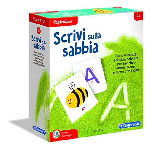 Clementoni - 16131 - Sapientino - Scrivi sulla Sabbia - gioco educativo bambini 4 anni, gioco per imparare a scrivere, lettere e numeri - made in Italy