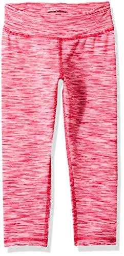 Amazon Essentials Mädchen Active Capri Legging, Rosa (Pink Spacedye), 12 Jahre (Herstellergröße: US XL )