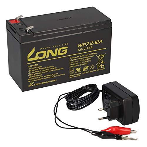 AGM BLEI AKKU Batterie 12V 7,2Ah kompatibel für USV BLEIGEL Gel 7Ah + LADEGERÄT