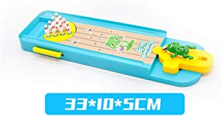 Table Game Portable Folding Tabletop Basketball Mini Basketball Bowling Catapult Toy Frog Bowling Tabletop Sports Educational Toys for Kid for Home, Game Room, Arcade