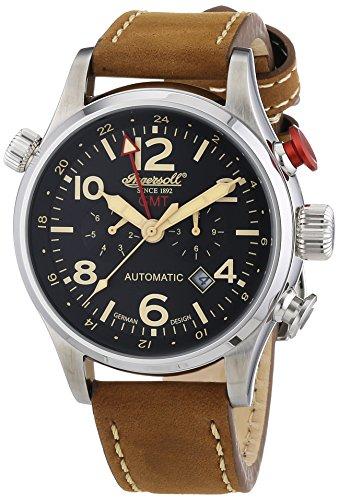 Ingersoll Herren-Armbanduhr XL Lawrence Chronograph Automatik Leder IN3218BK