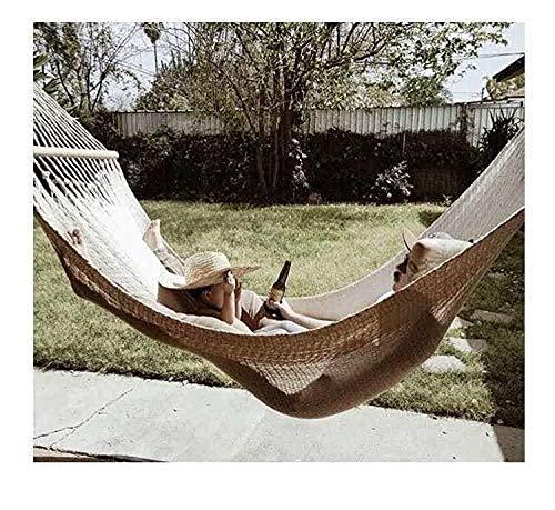 Amaca, 2 Persona Amaca, Boho Grande Macrame Europeo Frangia Double Deluxe Beach Swing Net Sunshine Sedia Outdoor Interni Appeso Déca Hammock Portatile Accogliente Amaca