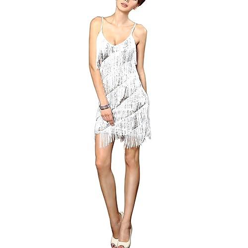 whitewed Women s Fringe Sequin 20 s Gatsby Latin Dance Slip Flapper Dresses  2015 2564e0fe1