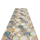 Alfombra de corredores de celosía contemporánea, alfombra de decoración interior multicolor para niños de la sala de niños pasillos de entrada, 60 cm / 80 cm / 100cm / 120cm de ancho (tamaño: 60x400cm