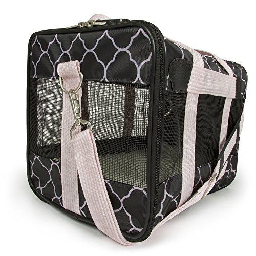 Sherpa Original Deluxe Pet Carrier Black/Pink, Medium, Black/Pink