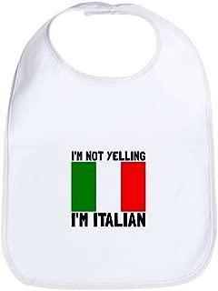 Yelling Italian Cute Cloth Baby Bib, Toddler Bib