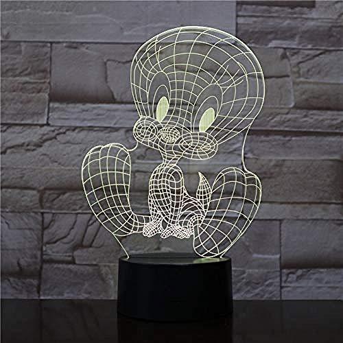 3D nachtlampje LED nachtlampje LED Touch Sensor USB decoratie RGB kinderen geschenk Cartoon Action Figuur tafellamp voor vogels slaapkamer