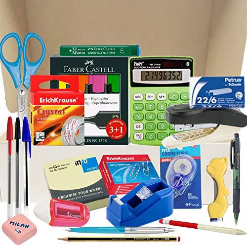 Papelivi - Lote Pack Set de Material de Oficina y Papelería ESENCIAL...
