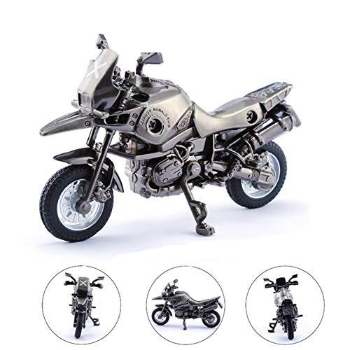 BBYaki Modèle Moto Métal, Le Pneu de Moto D'alliage de Transporteur de Modèle D'arme Jeu D'évasion Survie de Jedi Peut Être Tourné,Argent