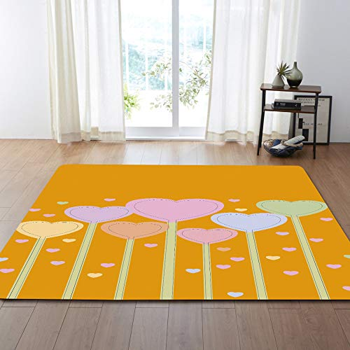QWEASDZX Sleek Minimalist Carpet Living Room Carpet And Carpet Home Living Room Carpet Children'S Room 99.1X152.4CM