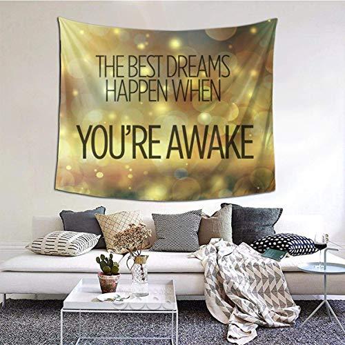 N\A Best Dreams Tapiz para Colgar en la Pared, Manta de Pared Arte de Pared para Sala de Estar Dormitorio Decoración del hogar