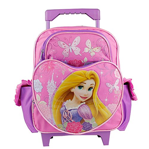 Disney Tangled Rapunzel Heart Girls 12' Small Rolling Backpack Bag