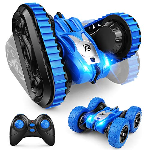 2020 New Double Sided Stunt Car, YT6601 360°Flips Rotating 2.4Ghz Remote Control Car with 2 Interchanges, RC Stunt Tank Car Toys Gifts for Kids Boys Girls
