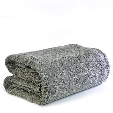 Chakir Turkish Linen Turkish Cotton - Oversized (40-Inch-by-80-Inch) Bath Towel, Gray