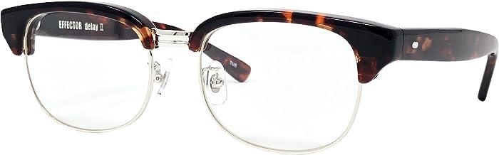 EFFECTOR サングラス 伊達眼鏡 メガネ delay2-TUR 【日本製】 タートル シルバー メンズ レディース ファッション おしゃれ シンプル めがね工房ハトヤ オリジナルメガネ拭き付【正規品】