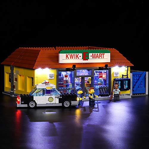 Nlne Kit De Iluminación Led para Lego Simpsons The Kwik-E-Mart, Compatible con Ladrillos De Construcción Lego Modelo 71016(NO Incluido En El Modelo)