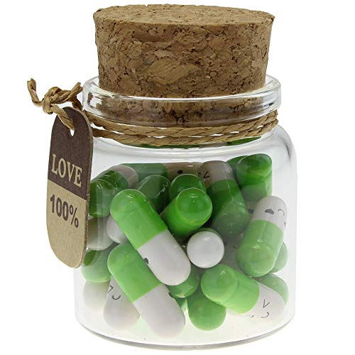 INFMETRY Capsule Letters Message in a Bottle (Green 25pcs)