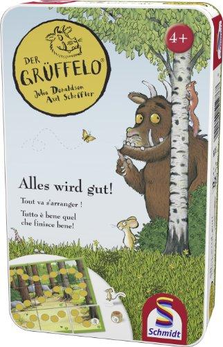 Schmidt Spiele 51276 - Grüffelo, Tutto è Bene Quel Che finisce Bene!, Gioco per Bambini in Confezione di Metallo [Lingua Tedesca]