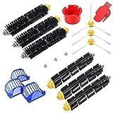 Supon Cepillo de repuesto para robot serie 600 - Accesorios de repuesto - 17 piezas - Cepillos laterales, filtro, cepillo de cerdas para aspirador robots (600-u)