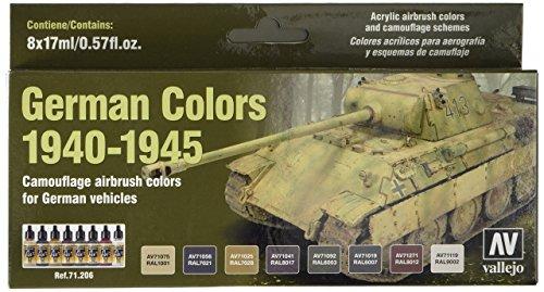 Vallejo 071206 Deutsche Farben 1940-1945, Militär