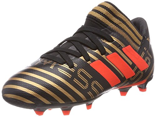 adidas Unisex-Kinder Nemeziz Messi 17.3 FG Fußballschuhe, Schwarz (Core Black/Solar Red/Tactile Gold Metallic), 36 2/3 EU