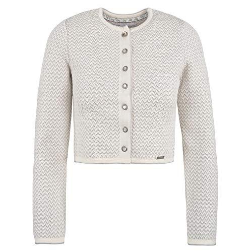 GIESSWEIN Strickjacke Nicoletta - edle Jacke aus 100% Merinowolle, taillierte Strickweste für Damen, extra weich und atmungsaktiv, süße Dirndljacke mit Knöpfen, aus hochwertiger Merinowolle