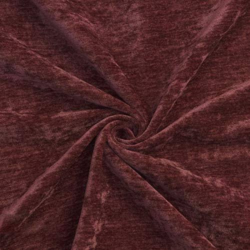 MUYUNXI Tela De Terciopelo Suave para Coser De Chaquetas Decoración Decoración del Hogar Cortinas Tapicería Vestido Sillas 280 Cm De Ancho Vendido por 2 Metro(Color:Rojo Bordado)