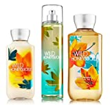 Bath & Body Works Signature Collection ' Wild Honeysuckle ' Gift Set ~ Body Lotion ~ Shower Gel & Fragance Mist ~