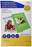 Royal Sovereign Heat Sealed Laminating Pouches 3 Mil Menu Size Clear Gloss (100 Pack) (RF03MENU0100) by Royal Sovereign