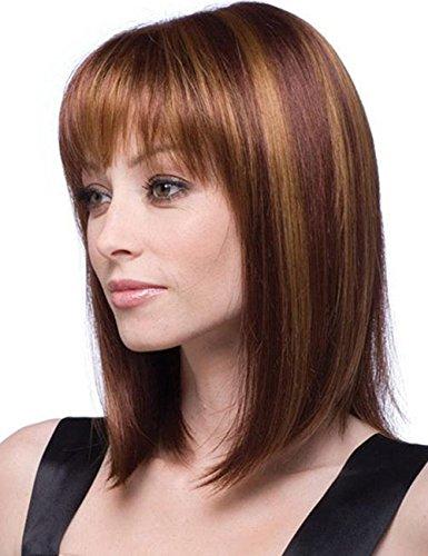 Dream Queen® courte droite brun perruque cheveux pour femme