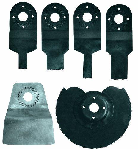 Einhell Starter Kit 6-tlg. (passend für alle Einhell Multifunktionswerkzeuge, HSS-Sägeblatt (10/20 mm), Sägeblatt (10/20 mm), fester Spachtel, gekröpftes Segmentsägeblatt)