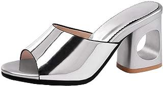 Zanpa Women Fashion Summer Shoes Block High Heels Mules Sandals