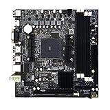 Garciasia Placa Base de Escritorio A88 FM2 + Soporte de Placa Base de Escritorio DDR3 16G Soporte 7650K VGA HDMI SATA3.0 Tamaño portátil (Color: Negro)