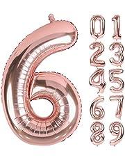 Lausatek バルーン アルミ風船 グラデーション 数字0 ナンバー 32インチ 大きい 誕生日 ハッピーバースデー 飾り付け 記念日 パーティー 約80cm