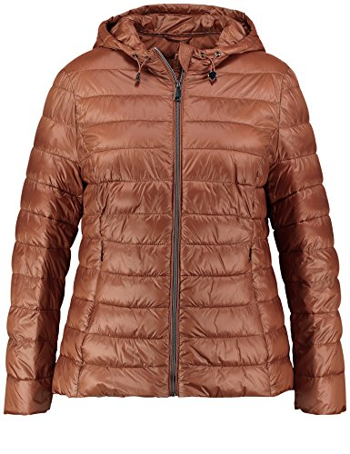 Samoon Damen Easy to Love Jacke, Braun (Copper Wood 70438), 46