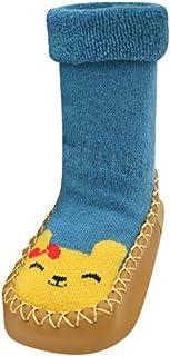 Fossen Ropa Bebe, Primeros Pasos Bebe Calcetines Calzado Zapatos de Antideslizante para Recien Nacido Niño Niña