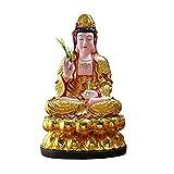 Estatua de Buda Resina Feng Shui Decoración Guanyin Buda estatua Ornamentos para el hogar y artesanías Adecuado para el Home Office Hotel Mantener Safe trae buena suerte Decoración de meditación