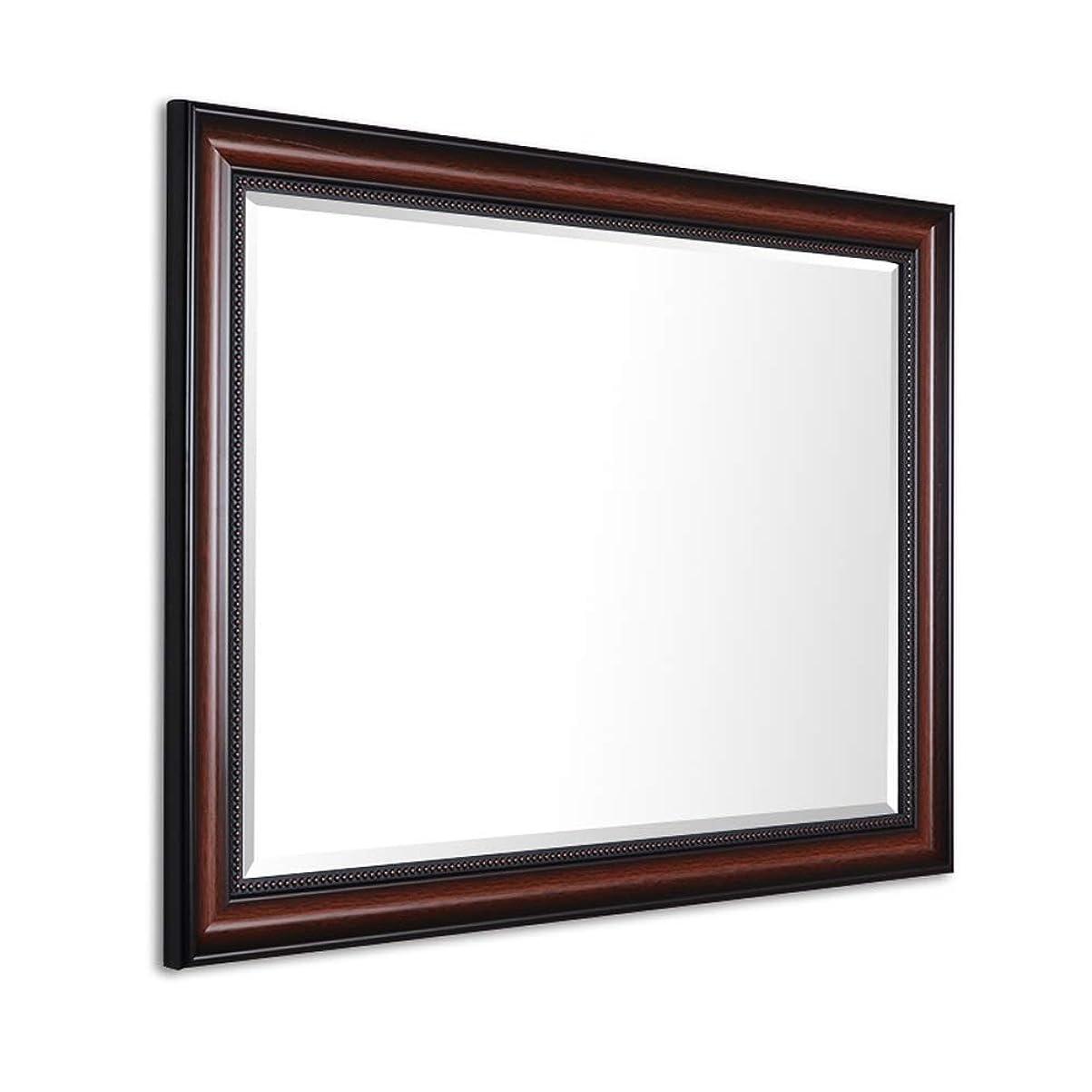 プラスチック表向き者茶色の中国風のバスルームミラー バスルームミラー壁掛けベッドルームフレーム付きバスルームミラーシルバーミラー5MM厚さ50 / 60x70 / 80cm(サイズ:50x70cm)