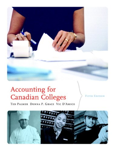 Accounting for Canadian Colleges, Fifth Edition (5th Edition)
