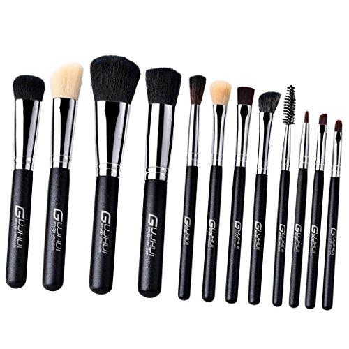 Sharplace Set Pinceaux Maquillage Brush Make-up à Fond de Teint Fluide, Fard à Paupières, Lip Gloss, Contour Yeux et Visage - Lot 9pcs/12pcs - C