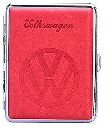 Zigarettenetui, VW-Logo, rot