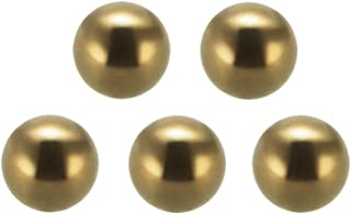 sourcing map 4mm Precision Solid Brass Bearing Balls 200pcs