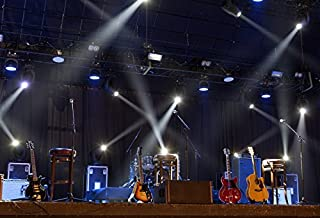 Yeele 10x8ft Band Stage Backdrop Spotlight Nightclub Show Rock Guitar Singing Performance Bar Photography Background Adult Portrait Photo Booth Video Shooting Vinyl Wallpaper Photocall Studio Prop